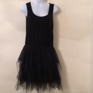 a'reve tank slip dress with tulle